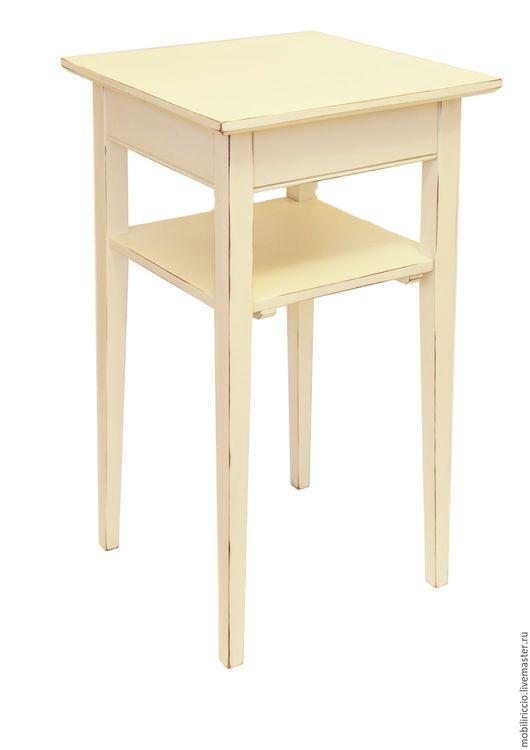 Столик в стиле `Прованс` (снежный)