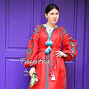 Одежда handmade. Livemaster - original item Embroidered Dress Gypsy Style, boho style, Bohemian. Handmade.