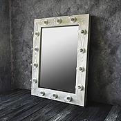 Для дома и интерьера handmade. Livemaster - original item Mirror with light bulbs. Make-up mirror. Mirror.. Handmade.