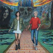 Картины и панно handmade. Livemaster - original item Hansel and Gretel. Oil on canvas. 130h100 cm. Handmade.