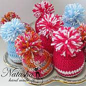 Подарки к праздникам ручной работы. Ярмарка Мастеров - ручная работа Шапочки на яйца. Handmade.