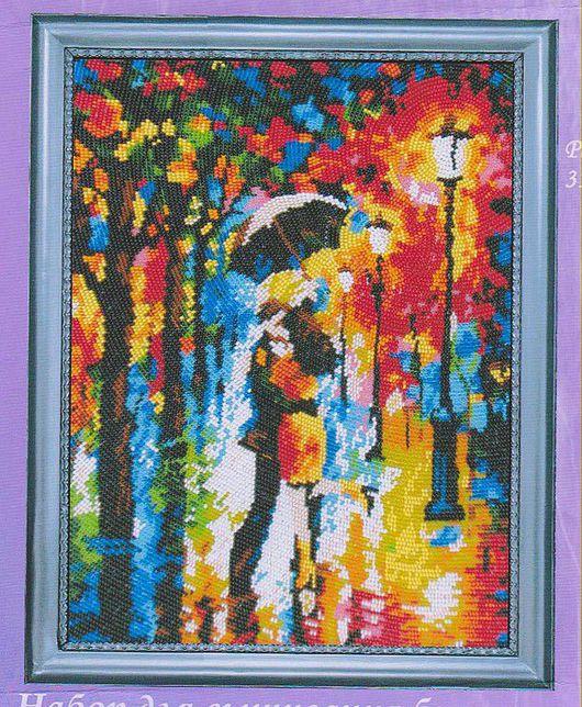 """Люди, ручной работы. Ярмарка Мастеров - ручная работа. Купить Картина """"Под дождем"""". Handmade. Распродажа, красивый подарок"""