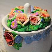 Посуда ручной работы. Ярмарка Мастеров - ручная работа Чайная розочка.. Handmade.