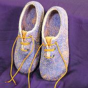 """Обувь ручной работы handmade. Livemaster - original item Женские валяные тапочки """"Чья туфля?"""". Handmade."""