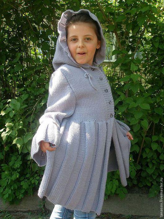 """Кофты и свитера ручной работы. Ярмарка Мастеров - ручная работа. Купить Кофта-платье для девочки """"Мария"""". Handmade. Серый"""