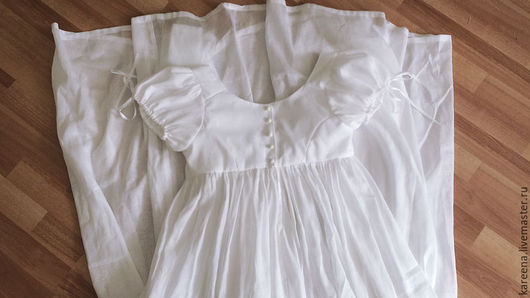 Платья ручной работы. Ярмарка Мастеров - ручная работа. Купить Платье из батиста. Handmade. Ампир, историческое платье, хлопковый ампир