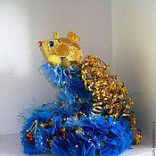"""Подарки к праздникам ручной работы. Ярмарка Мастеров - ручная работа Композиция """"Золотая рыбка"""". Handmade."""
