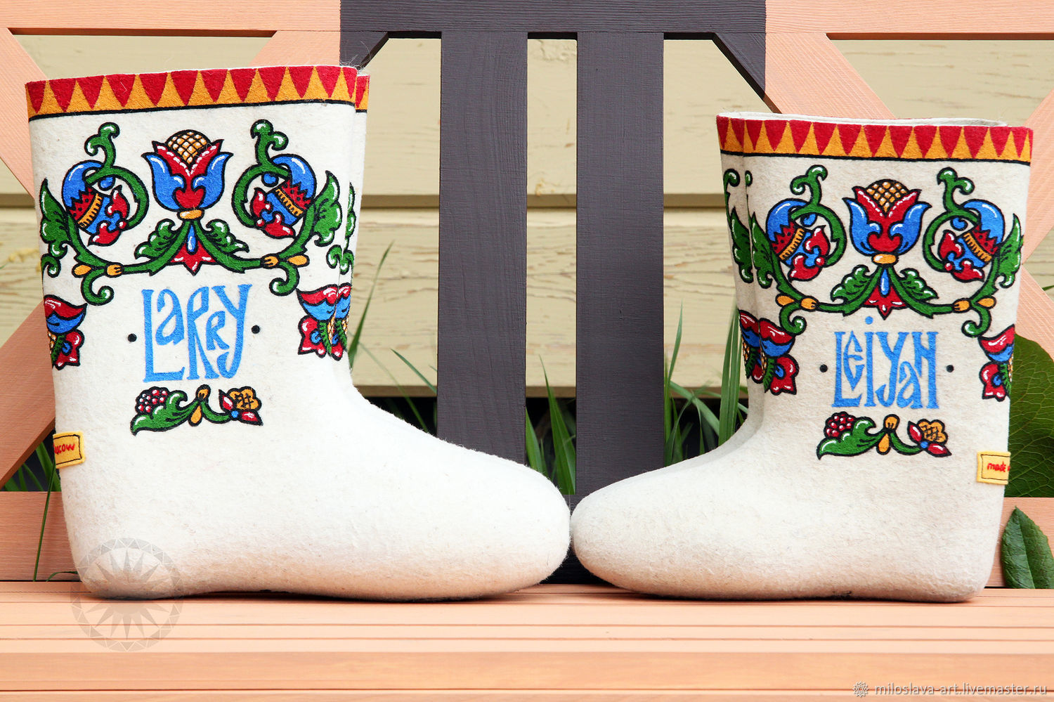 Pair of personalized boots, Felt boots, Moscow,  Фото №1