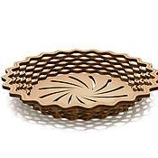 Посуда handmade. Livemaster - original item Plate round made of cedar. Wooden plate. Handmade.