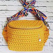 Поясная сумка ручной работы. Ярмарка Мастеров - ручная работа Вязаная поясная сумка. Handmade.