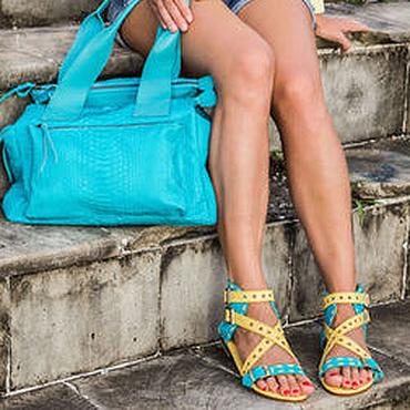 Обувь ручной работы. Ярмарка Мастеров - ручная работа Сандалии из натуральной кожи питона Амазонка. Handmade.