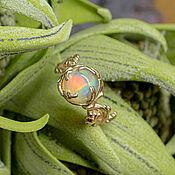 Украшения handmade. Livemaster - original item Gold ring with opal
