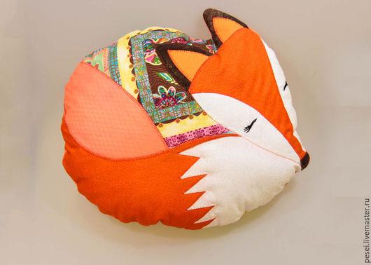 Текстиль, ковры ручной работы. Ярмарка Мастеров - ручная работа. Купить подушка лисичка ЛИ. Handmade. Рыжий, подушка в авто