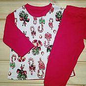 """Работы для детей, ручной работы. Ярмарка Мастеров - ручная работа пижама """"новогодняя"""". Handmade."""