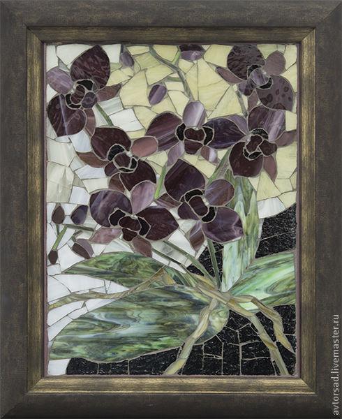 Мозаичная картина `Орхидеи`