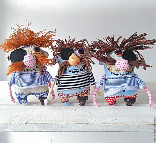 Коллекционные куклы ручной работы. Ярмарка Мастеров - ручная работа. Купить Бармалейчики..  текстильная игрушка пират. Handmade. Синий, Бармалей