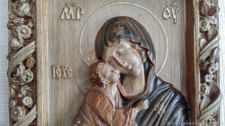 Икона резная: Донская Божья Матерь, Иконы, Челябинск,  Фото №1