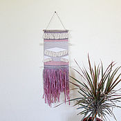 Гобелен ручной работы. Ярмарка Мастеров - ручная работа Панно на стену в бохо стиле современное ткачество гобелен. Handmade.