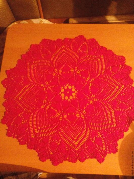 Текстиль, ковры ручной работы. Ярмарка Мастеров - ручная работа. Купить Cалфетка. Handmade. Фуксия, салфетка, салфетка крючком