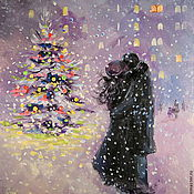 Картины и панно handmade. Livemaster - original item A new Year with you! Oil painting on canvas.. Handmade.