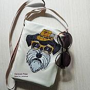 Сумки и аксессуары ручной работы. Ярмарка Мастеров - ручная работа Летняя сумочка с машинной вышивкой. Handmade.