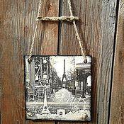 """Для дома и интерьера ручной работы. Ярмарка Мастеров - ручная работа панно """"париж ближе,чем ты думаешь"""" путешествие. Handmade."""