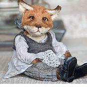 Куклы и игрушки ручной работы. Ярмарка Мастеров - ручная работа Лиса тедди Ирма. Handmade.