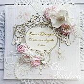 Открытки ручной работы. Ярмарка Мастеров - ручная работа Роскошная открытка на свадьбу или свадебный юбилей. Handmade.