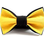 Галстуки ручной работы. Ярмарка Мастеров - ручная работа Галстук-бабочка черно-желтая. Handmade.