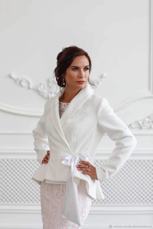 c2141f80beee Свадебное Пальто Белое Женское Пальто «Мария Кашемир» – купить в ...