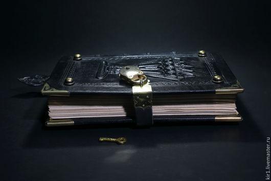 Блокноты ручной работы. Ярмарка Мастеров - ручная работа. Купить Магическая книга. Handmade. Черный, книга под замок