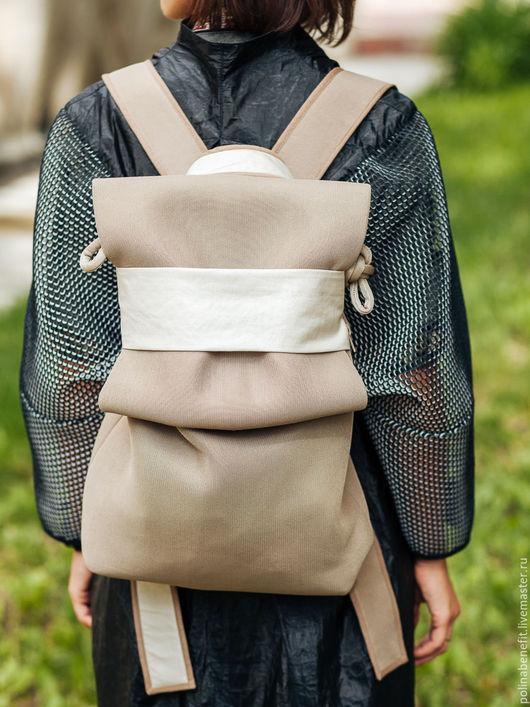 Рюкзаки ручной работы. Ярмарка Мастеров - ручная работа. Купить Рюкзак из сетки 3D, цвет : тёмный песочный. Handmade.