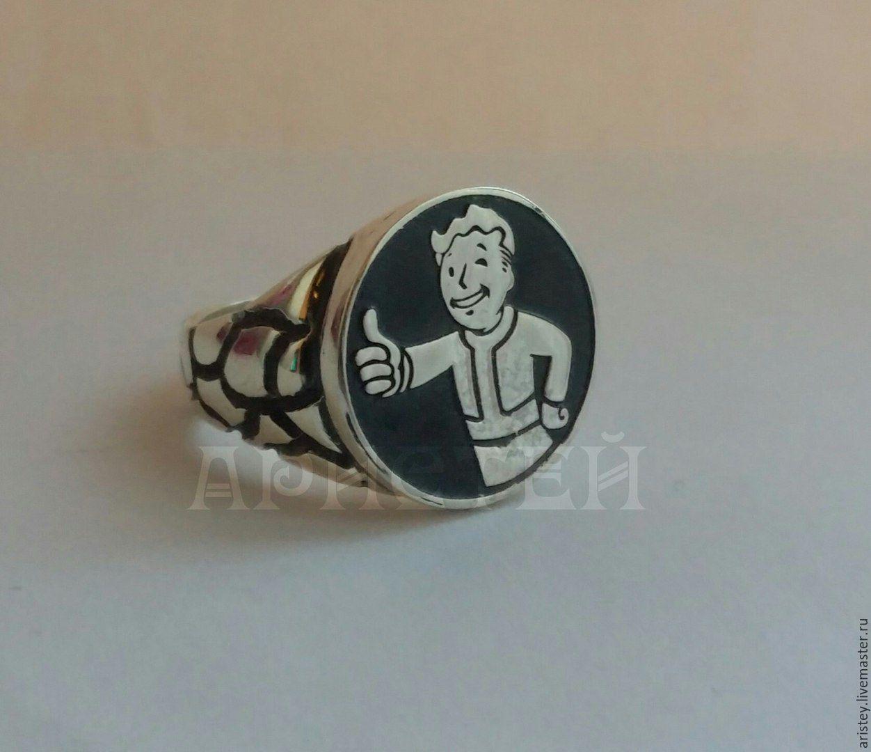 "Rings handmade. Livemaster - handmade. Buy Ring ""Vault-Boy"".Rpg, silver 925, gift for any occasion"