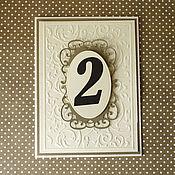 Свадебный салон ручной работы. Ярмарка Мастеров - ручная работа Номера столов Ванильный крем Айвори Золото. Handmade.