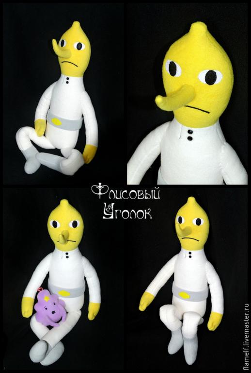 Сказочные персонажи ручной работы. Ярмарка Мастеров - ручная работа. Купить Adventure Time Граф Лимонохват. Handmade. Серый, lemongrab
