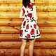 """Платья ручной работы. Платье по колено без рукавов """"Розы"""". OLGA'Z. Интернет-магазин Ярмарка Мастеров. Цветочный, расклешенная юбка"""