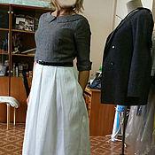 Одежда ручной работы. Ярмарка Мастеров - ручная работа 081: Повседневное платье, платье миди, офисное платье. Handmade.