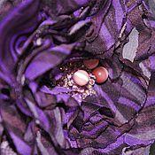 Украшения ручной работы. Ярмарка Мастеров - ручная работа Фиолетовый в моде. Брошка. Handmade.