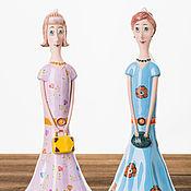 """Куклы и игрушки ручной работы. Ярмарка Мастеров - ручная работа Кукла-колокольчик """"Девушка в платье с цветами"""". Handmade."""