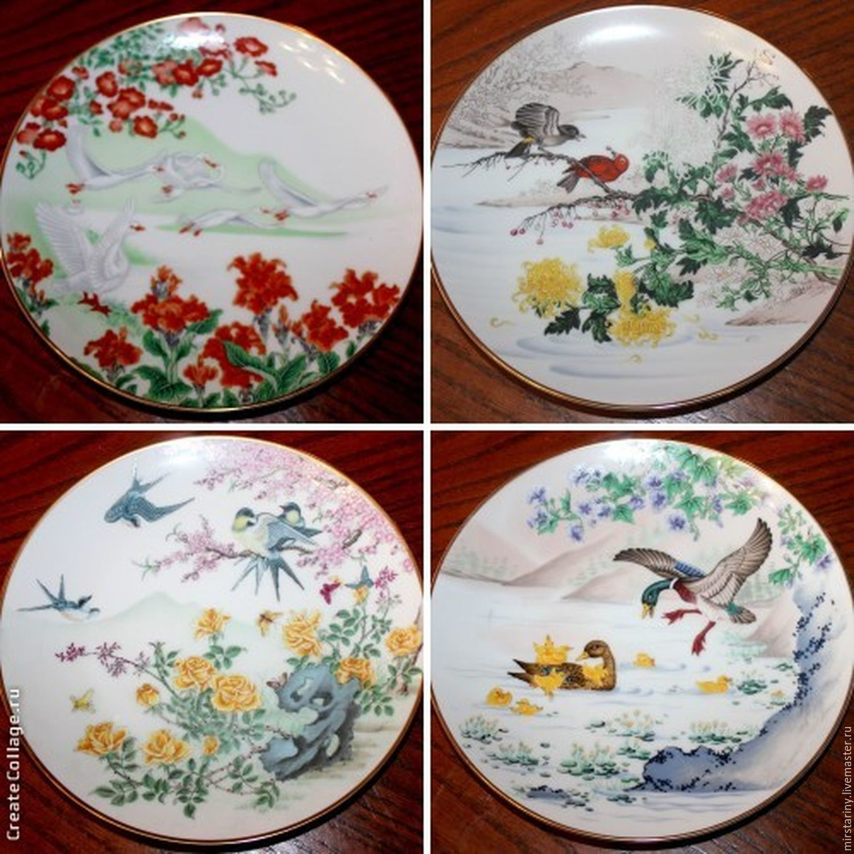 Decorative plates u0027Birds and flowers of Chinau0027 Japan ... & Decorative plates