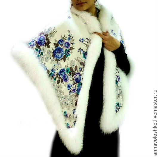 """Шали, палантины ручной работы. Ярмарка Мастеров - ручная работа. Купить Шелковый платок , """"Первое свидание"""" арт.10009. Handmade."""