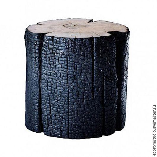 Мебель ручной работы. Ярмарка Мастеров - ручная работа. Купить Интерьерный пень Lofteco. Handmade. Черный, подставка лофт
