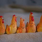 Подарки к праздникам ручной работы. Ярмарка Мастеров - ручная работа Петухи и курицы. Набор.. Handmade.