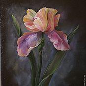 """Картины и панно ручной работы. Ярмарка Мастеров - ручная работа Картина """"Ирис"""". Handmade."""