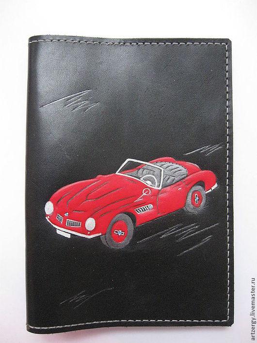 Автомобильные ручной работы. Ярмарка Мастеров - ручная работа. Купить обложка под права BMW 507. Handmade. БМВ