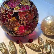 Для дома и интерьера handmade. Livemaster - original item The bowl interior with hand painted. candle holder. Handmade.