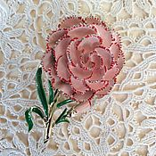 Винтаж handmade. Livemaster - original item Brooch Carnation Exquisite England 50 - gg big size. Handmade.