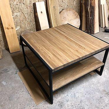 Мебель ручной работы. Ярмарка Мастеров - ручная работа Журнальный стол из дуба. Handmade.