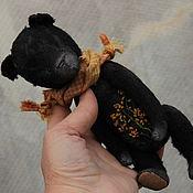 Куклы и игрушки ручной работы. Ярмарка Мастеров - ручная работа мишка тедди Черныш. Handmade.