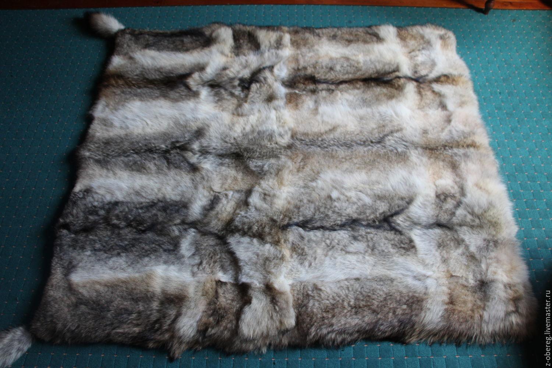 Текстиль, ковры ручной работы. Ярмарка Мастеров - ручная работа. Купить Меховое покрывало из волчьих шкур. Handmade. Волк